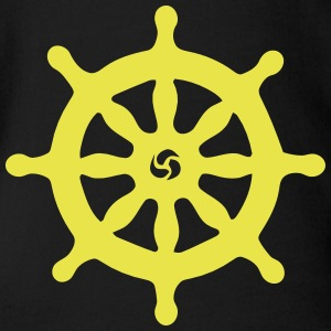 SHIP STEERING WHEEL T-shirts - Ekologisk kortärmad babybody