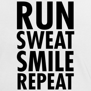 Run, Sweat, Smile, Repeat T-Shirts - Women's Ringer T-Shirt