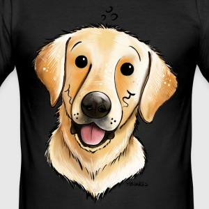 Glad Labrador Retriever T-shirts - Herre Slim Fit T-Shirt