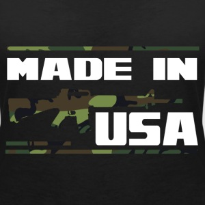 USA m16 camo T-Shirts - Women's V-Neck T-Shirt