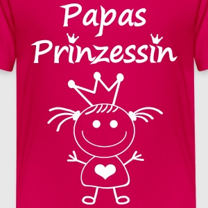 Papas Prinzessin T-Shirts - Teenager Premium T-Shirt