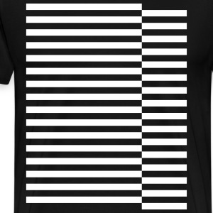 staggered strips T-Shirts - Men's Premium T-Shirt