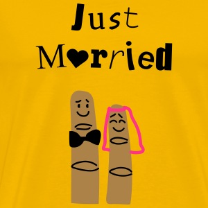 Just married fingers Tee shirts - T-shirt Premium Homme