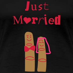 Just married fingers Tee shirts - T-shirt Premium Femme