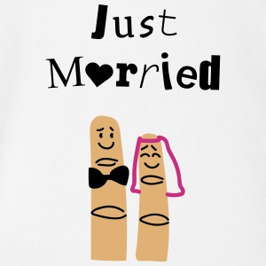 Just married fingers Tee shirts - Body bébé bio manches courtes