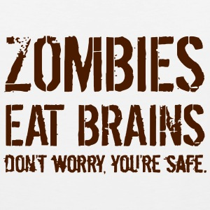 ZOMBIES EAT BRAINS Singlets - Premium singlet for menn