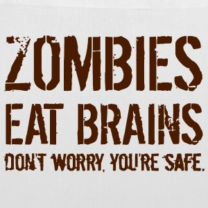 ZOMBIES EAT BRAINS Bags & Backpacks - Tote Bag