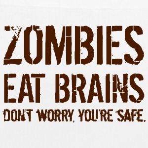 ZOMBIES EAT BRAINS Bags & Backpacks - EarthPositive Tote Bag