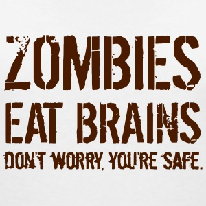ZOMBIES EAT BRAINS T-Shirts - Women's V-Neck T-Shirt