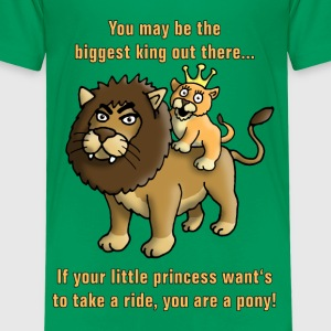 king_of_the_animals_and_his_princess_a T-Shirts - Kinder Premium T-Shirt