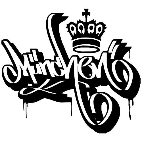 München Ultras Supporter Tattoo Graffiti Tag Shirt
