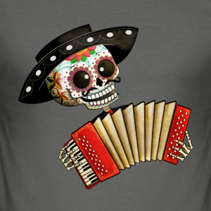The Day of The Dead Skeleton El Mariachi T-Shirts - Men's Slim Fit T-Shirt