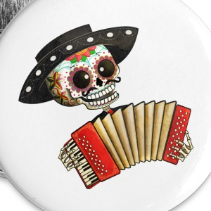The Day of The Dead Skeleton El Mariachi Buttons - Buttons large 56 mm