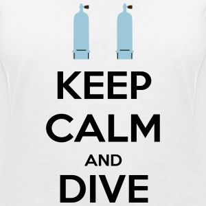 Keep calm and dive Tee shirts - T-shirt col V Femme