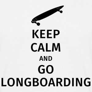 keep calm and go longboaring T-shirts - T-shirt herr