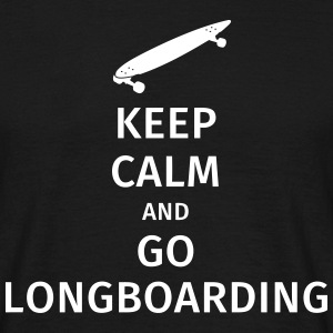 keep calm and go longboaring T-shirts - Mannen T-shirt