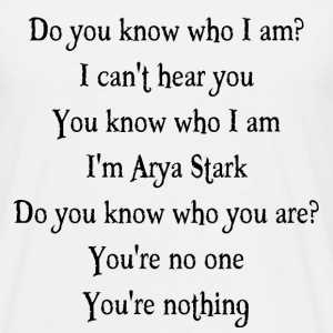 Do you know who I am? T-skjorter - T-skjorte for menn
