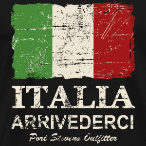Italy Flag - Vintage Look T-Shirts - Men's Premium T-Shirt