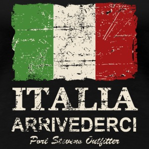 Italy Flag - Vintage Look T-Shirts - Frauen Premium T-Shirt