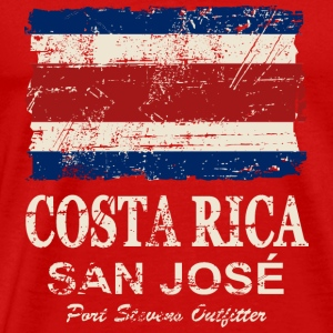 Costa Rca Flag - Vintage Look T-Shirts - Men's Premium T-Shirt