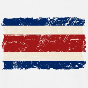 Costa Rica Flag - Vintage Look T-shirts - T-shirt herr