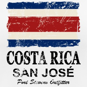 Costa Rica Flag - Vintage Look Camisetas - Camiseta mujer transpirable