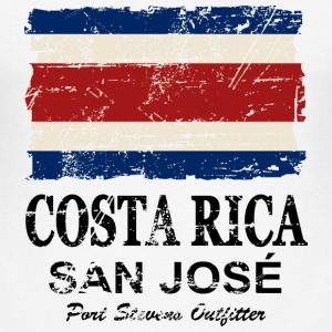 Costa Rca Flag - Vintage Look T-Shirts - Men's Slim Fit T-Shirt