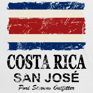 Costa Rca Flag - Vintage Look T-Shirts - Women's Ringer T-Shirt