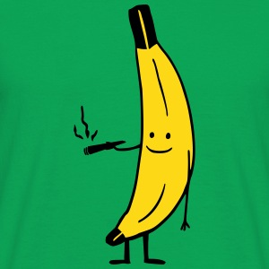 Weed Smoking Banana T-shirts - Mannen T-shirt