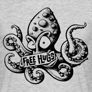 Heather grey free hugs T-Shirts - Men's T-Shirt