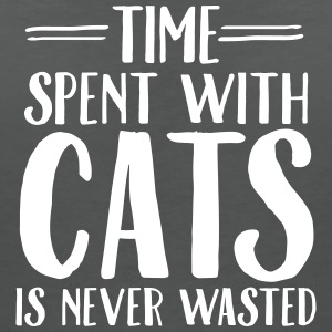 Time Spent With Cats Is Never Magliette - Maglietta da donna scollo a V