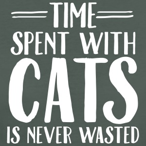 Time Spent With Cats Is Never Magliette - T-shirt ecologica da donna
