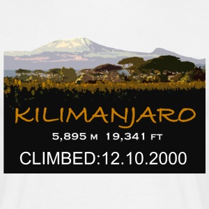 Mt Kilimanjaro Climb Commemorative: add your dates - Men's T-Shirt