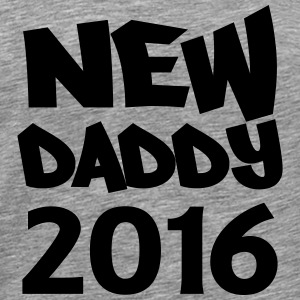 New Daddy 2016 T-shirts - Mannen Premium T-shirt