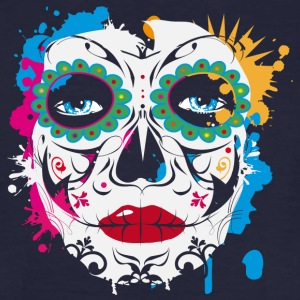 Sugar Skull Makeup Graffiti T-Shirts - Men's Organic T-shirt