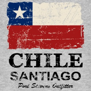 Chile Flag - Vintage Look Tee shirts - T-shirt bio Homme