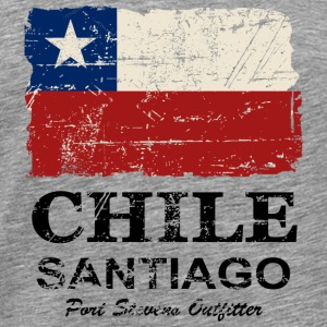 Chile Flag - Vintage Look T-shirts - Herre premium T-shirt