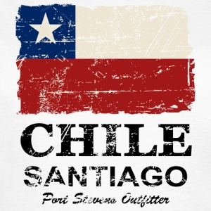 Chile Flag - Vintage Look Tee shirts - T-shirt Femme