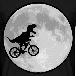 Dinosaur bike and MOON - Men's T-Shirt