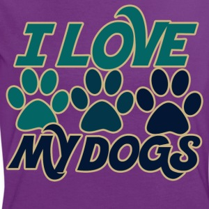I love my dogs - Women's Ringer T-Shirt