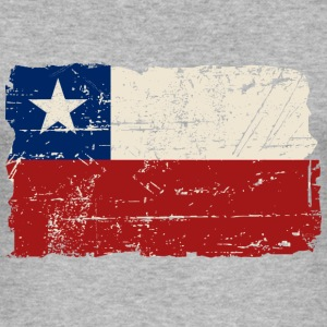 Chile Flag - Vintage Look T-shirts - Herre Slim Fit T-Shirt