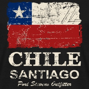 Chile Flag - Vintage Look T-shirts - T-shirt herr