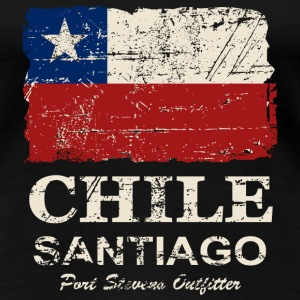 Chile Flag - Vintage Look T-Shirts - Women's Premium T-Shirt