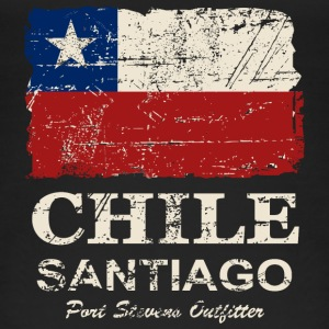 Chile Flag - Vintage Look Top - Top da donna ecologico