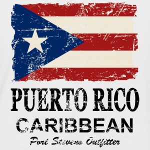 Puerto Rico Flag - Vintage Look Tee shirts - T-shirt baseball manches courtes Homme