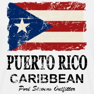 Puerto Rico Flag - Vintage Look T-Shirts - Men's T-Shirt