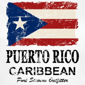 Puerto Rico Flag - Vintage Look T-Shirts - Women's T-Shirt