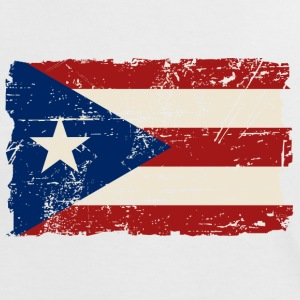 Puerto Rico Flag - Vintage Look Tee shirts - T-shirt contraste Femme