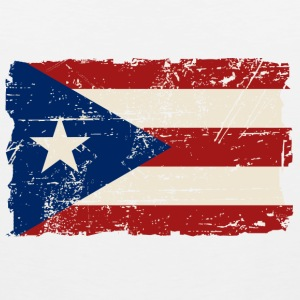 Puerto Rico Flag - Vintage Look Tank Tops - Men's Premium Tank Top