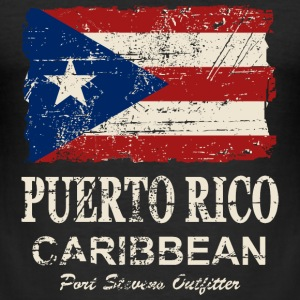 Puerto Rico Flag - Vintage Look T-Shirts - Men's Slim Fit T-Shirt